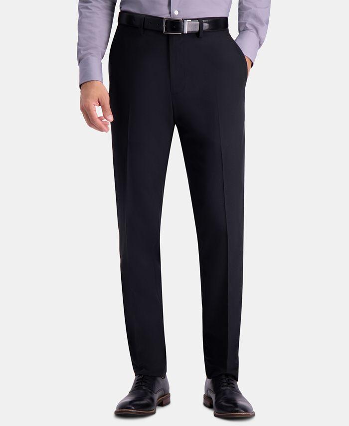 Haggar - Men's Slim-Fit Herringbone Pants