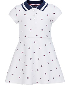 Tommy Hilfiger Baby Girls Printed Polo Shirt Dress