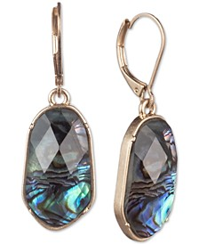 Gold-Tone Stone Medium Drop Earrings