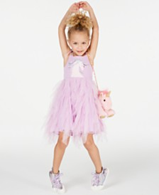 Matching Sister Dress Rare Editions Toddler, Little & Big Girls Unicorn Tutu Dress
