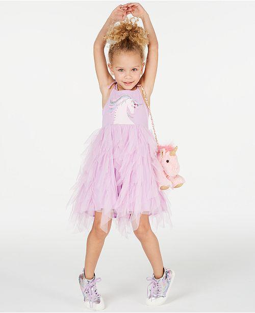 fbad3262fdce ... Rare Editions Matching Sister Dress Toddler, Little & Big Girls Unicorn Tutu  Dress ...