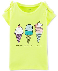 Carter's Little Girls Ice Cream Graphic Top