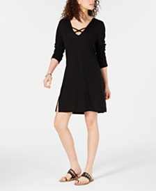 Miken Long-Sleeve Hoodie Swim Cover-Up