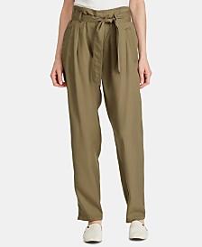 Lauren Ralph Lauren Twill Paperbag Pants