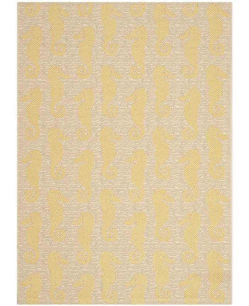 "Safavieh Courtyard Beige and Yellow 4' x 5'7"" Sisal Weave Area Rug"