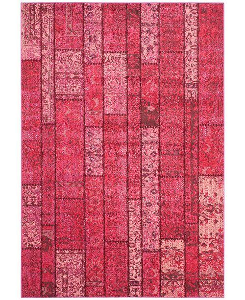 "Safavieh Monaco Pink and Multi 6'7"" x 9'2"" Area Rug"