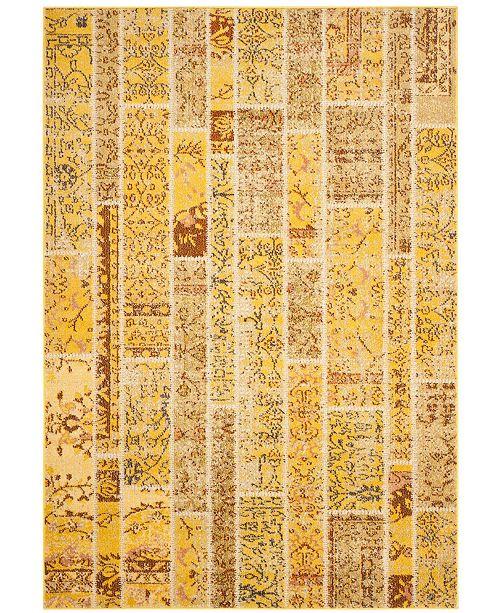 "Safavieh Monaco Yellow and Multi 4' x 5'7"" Area Rug"