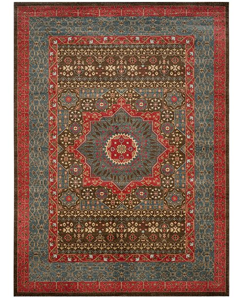 Safavieh Mahal Navy and Red 8' x 11' Area Rug