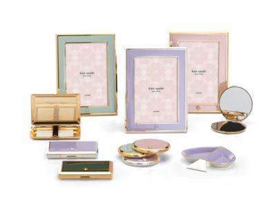 new york Spade Street Gold Jewelry Dish, Blush Spade