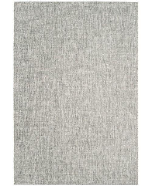 "Safavieh Courtyard Gray and Turquoise 4' x 5'7"" Sisal Weave Area Rug"