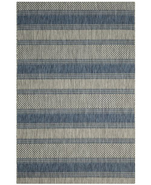 Safavieh Courtyard Gray and Navy 9' x 12' Area Rug