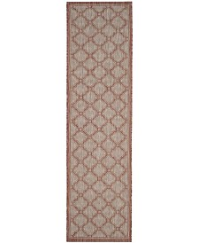 "Safavieh Courtyard Red and Beige 2'3"" x 12' Sisal Weave Runner Area Rug"