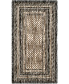 "Safavieh Courtyard Natural and Black 2' x 3'7"" Area Rug"