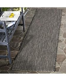 "Courtyard Black and Beige 2'3"" x 12' Sisal Weave Runner Area Rug"