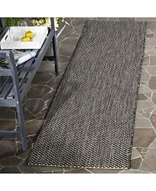 "Safavieh Courtyard Black and Beige 2'3"" x 12' Sisal Weave Runner Area Rug"