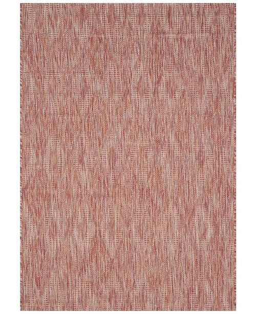 "Safavieh Courtyard Red 4' x 5'7"" Area Rug"