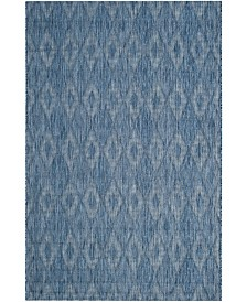 "Safavieh Courtyard Navy 6'7"" x 6'7"" Sisal Weave Square Area Rug"