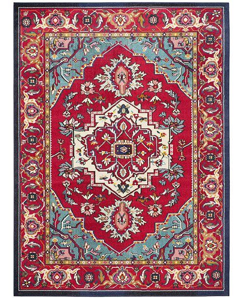 Safavieh Monaco Red and Turquoise 12' x 18' Area Rug