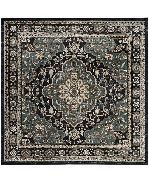 Safavieh Lyndhurst Anthracite and Teal 7' x 7' Square Area Rug