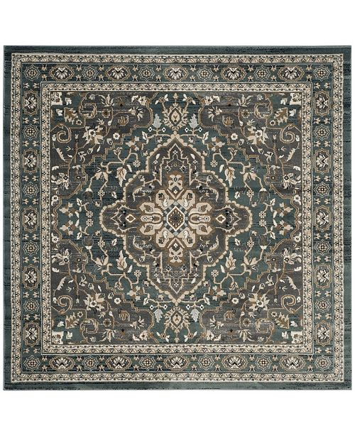 Safavieh Lyndhurst Teal and Gray 7' x 7' Square Area Rug