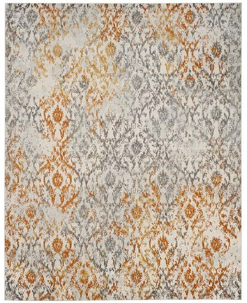 Safavieh Madison Cream and Orange 8' x 10' Area Rug