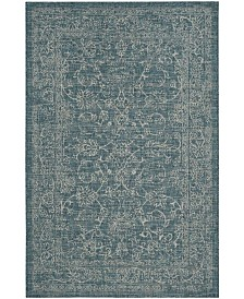 "Safavieh Courtyard Turquoise 6'7"" x 6'7"" Sisal Weave Square Area Rug"