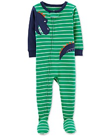 Carter's Baby Boys Dinosaur Footed Cotton Pajamas