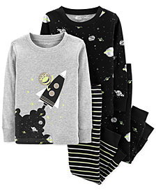 Carter's Baby Boys 4-Pc. Outer Space Cotton Pajamas Set