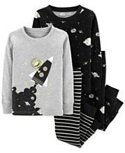 23c885b6b Carter's Baby Boys 4-Pc. Outer Space Cotton Pajamas Set