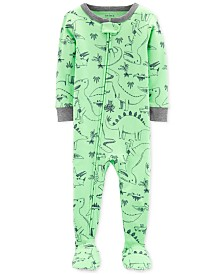 Carter's Baby Boys Footed Dinosaur-Print Pajamas