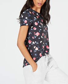 Ideology Ditsy Floral Printed Keyhole-Back Top, Created for Macy's