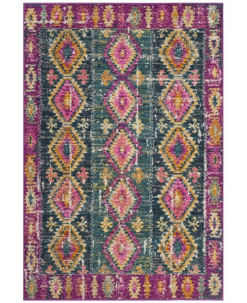 Safavieh Madison Fuchsia and Blue 6' x 9' Area Rug