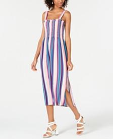 Be Bop Juniors' Smocked Striped Dress