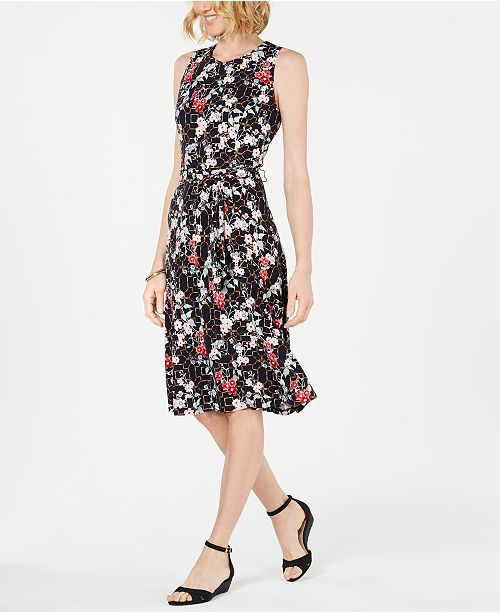 Charter Club Printed Midi Dress, Created for Macy's