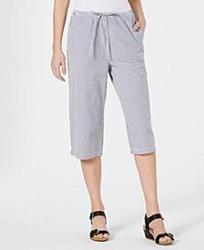 Cotton Seersucker Capri Pants, Created for Macy's