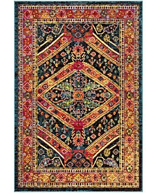 "Safavieh Cherokee Turquoise and Light Orange 5'1"" x 7'6"" Area Rug"