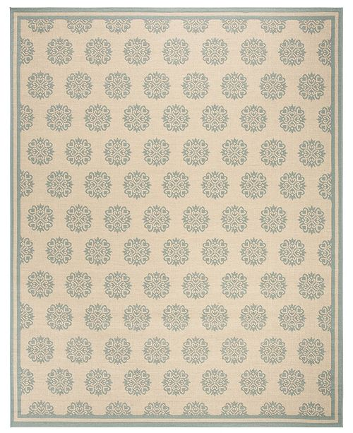 Safavieh Linden Cream and Aqua 8' x 10' Area Rug