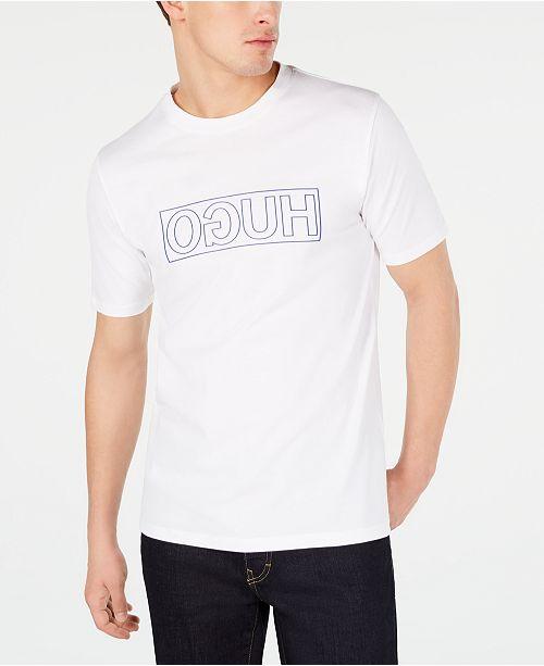 Hugo Boss HUGO Men's Dicagolino Reverse Logo Graphic T-Shirt