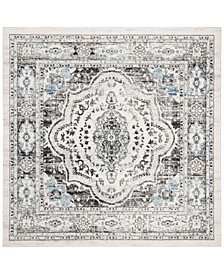 """Madison Light Gray and Blue 6'7"""" x 6'7"""" Square Area Rug"""