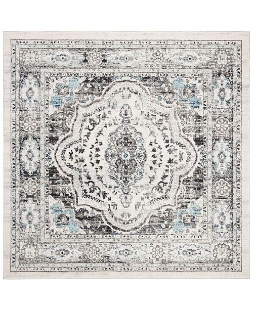 "Safavieh Madison Light Gray and Blue 6'7"" x 6'7"" Square Area Rug"