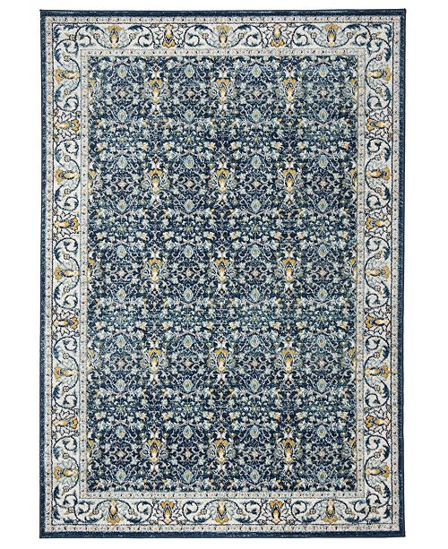 Safavieh Madison Navy and Creme 9' x 12' Sisal Weave Area Rug