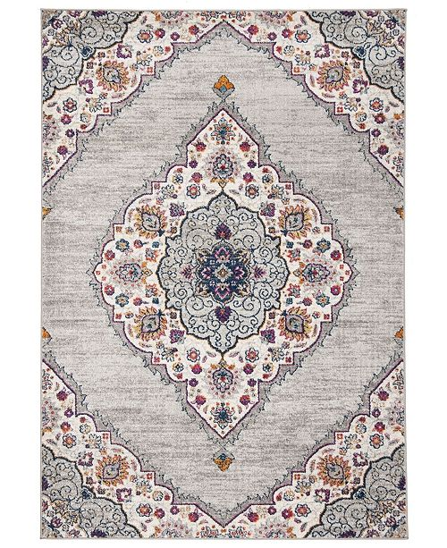 Safavieh Madison Light Gray and Fuchsia 4' x 6' Sisal Weave Area Rug