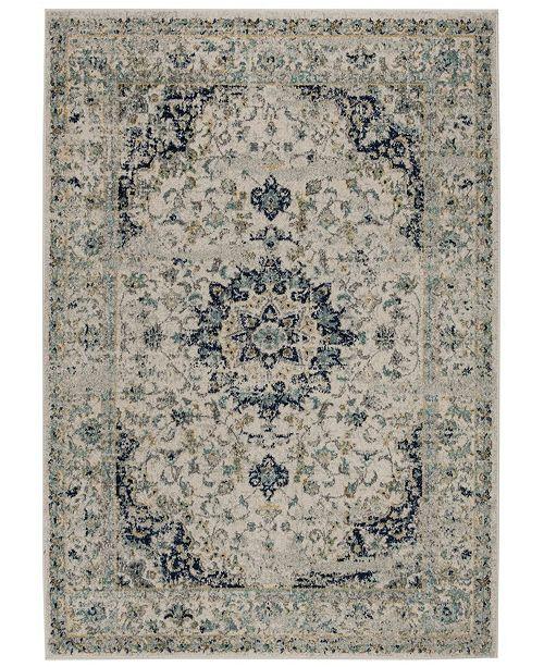 Safavieh Madison Ivory and Blue 6' x 9' Sisal Weave Area Rug
