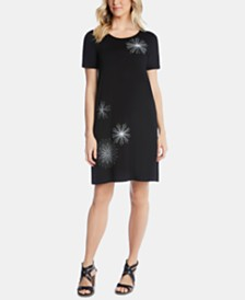 Karen Kane Floral-Embroidered Dress