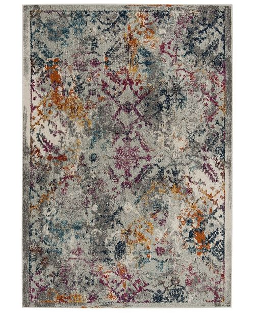 "Safavieh Madison Light Grey and Fuchsia 2'3"" x 8' Sisal Weave Runner Area Rug"