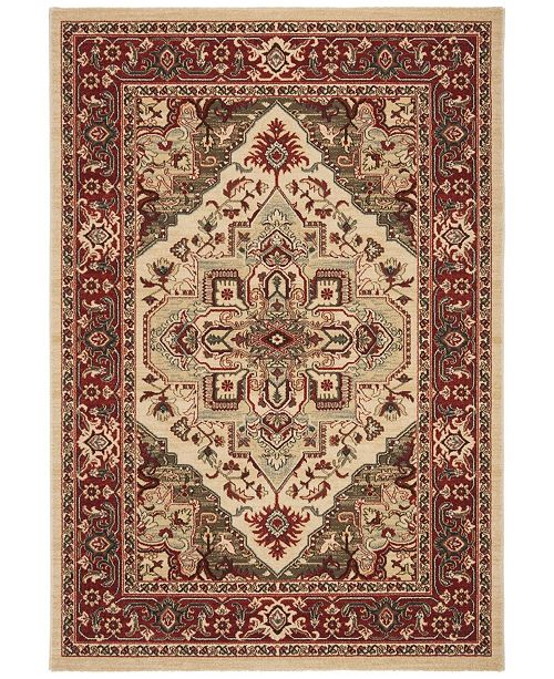 """Safavieh Mahal Creme and Red 6'7"""" x 6'7"""" Square Area Rug"""
