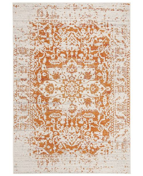 "Safavieh Madison Orange and Ivory 6'7"" x 9'2"" Area Rug"