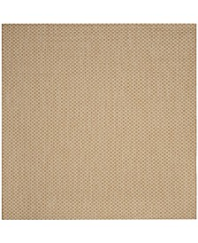 """Safavieh Courtyard Natural and Cream 5'3"""" x 5'3"""" Sisal Weave Square Area Rug"""