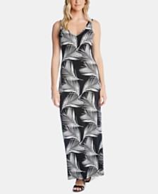 Karen Kane Palm-Print Maxi Dress