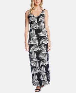 Karen Kane Dresses PALM-PRINT MAXI DRESS